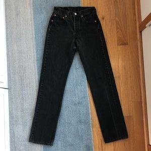 Vintage Levi's 501 black denim